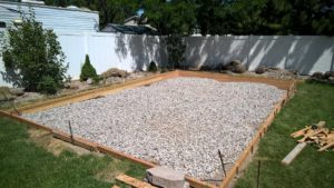 Pole Barn Shed Foundation Gravel