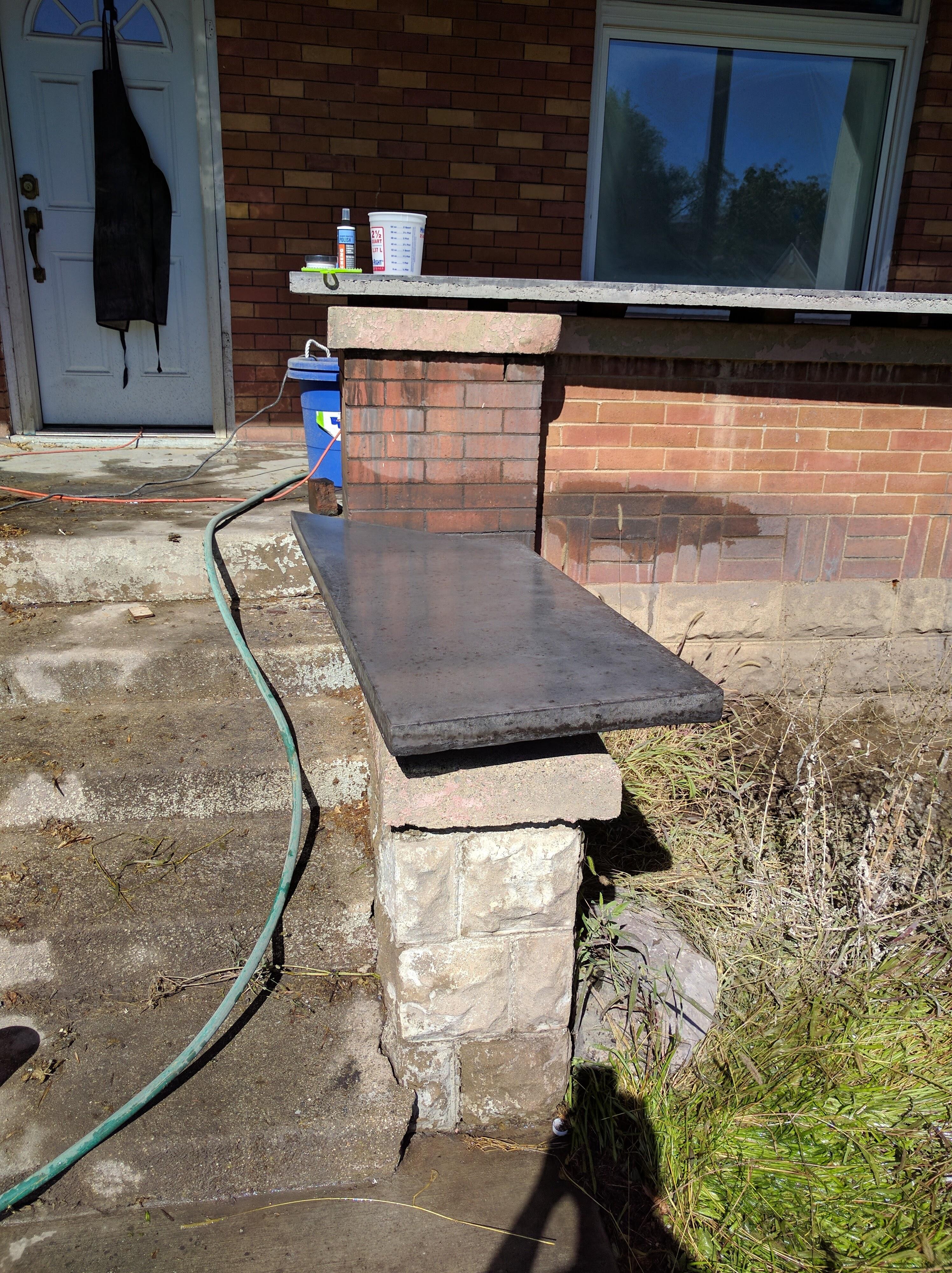 DIY Concrete Countertops: Polishing | Double Diamond Hill ...