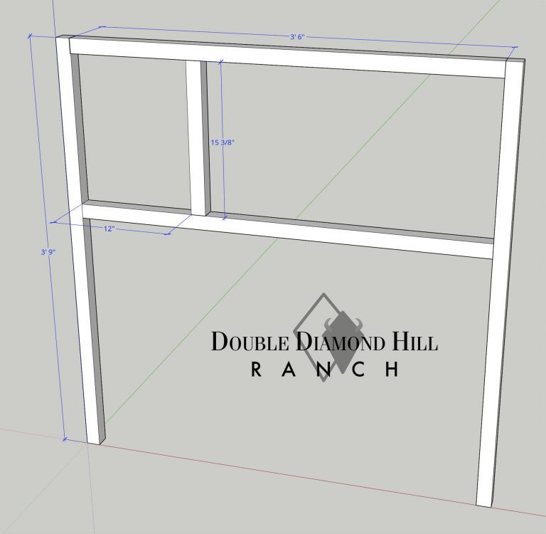 Front Panel of Rabbit Hutch