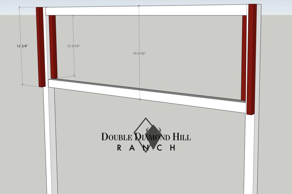 Side trim of back panel of Rabbit Hutch